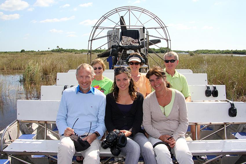 Eine Airboat-Tour