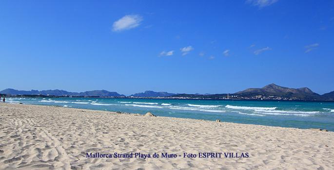 Mallorca Strand Playa de Muro, Foto ESPRIT VILLAS