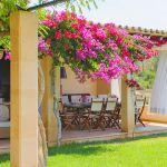 Ferienhaus Mallorca 6630 überdachte Terrasse