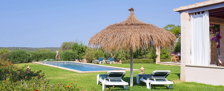 Ferienhaus Mallorca 6630 Garten mit Pool