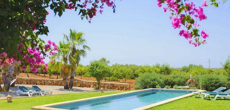 Mallorca Südostküste – rollstuhlgeeignete Komfort – Finca Cas Concos 5620 in ruhiger Lage, Grundstück 22.000qm, Wohnfläche 280qm. Wechseltag Samstag, Nebensaison flexibel – Mindestmietzeit 1 Woche.