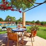 Ferienhaus Mallorca MA6630 Gartenmöbel auf der Terrasse