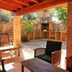 Ferienhaus Mallorca MA7420 überdachte Terrasse mit Grill