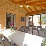 Ferienhaus Mallorca MA8300 Wintergarten mit Esstischen