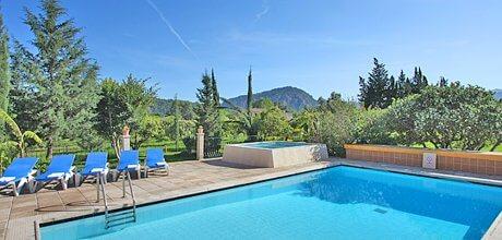 Mallorca Nordküste – Komfort-Ferienhaus Pollensa 8385 mit Pool und Kinderpool für 12 Personen, Strand 4,2. Vom 03.07. – 27.08.21 Wechseltag Samstag, Rest flexibel.