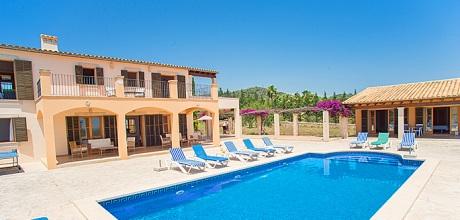 Mallorca Südostküste – Komfort Ferienhaus S'Horta 6635 mit Pool und Panoramablick, Grundstück 12.000qm, Wohnfläche 250qm. An- und Abreise flexibel auf Anfrage – Mindestmietzeit 1 Woche.