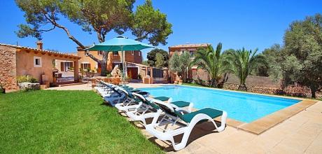 Mallorca Südostküste – Finca Cas Concos 6775 mit Pool & Tennisplatz, Grundstück 15.000qm, Wohnfläche 350qm. An- und Abreisetag nur Samstag. – 2018 jetzt buchen!