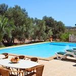 Finca Cas Concos MA6775 Poolterrasse mit Gartenmöbel