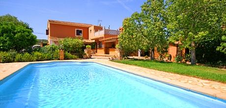 Mallorca Südostküste – Ferienhaus Felanitx 6044 mit Pool, Grundstück 4.500qm, Wohnfläche 190qm. Wechseltag flexibel – Mindestmietzeit 1 Woche.