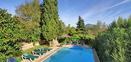 Mallorca Nordküste – Finca Pollensa 6480 mit Pool und Internet für 12 Personen mieten. Wechseltag vom 08.06. – 07.09.19 ist Samstag, Rest flexibel, Mindestmietzeit 5 Tage.