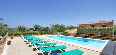 Mallorca Südostküste – Finca Cas Concos 6860 mit Pool und Internet in ruhiger Lage mieten. Wechseltag Samstag