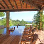 Villa Mallorca MA6651 überdachte Terrasse mit Esstisch