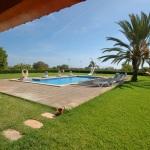 Ferienhaus Cala d Or MA5730 Blick in den Garten