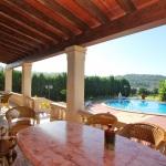 Ferienhaus Mallorca 5649 - überdachte Terrasse mit Gartenmöbel