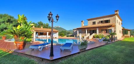 Mallorca Südostküste – Komfort Ferienhaus S'Horta 5649 mit großem Pool, Grundstück 10.000qm, Wohnfläche 180qm. Wechseltag Samstag, Nebensaison flexibel – Mindestmietzeit 1 Woche.