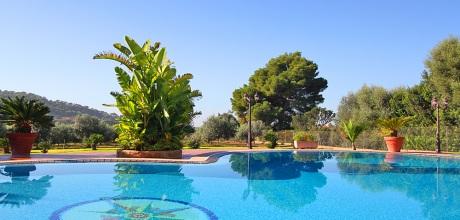 Mallorca Südostküste – Komfort Ferienhaus S'Horta 5649 mit großem Pool, Grundstück 10.000qm, Wohnfläche 180qm. Wechseltag flexibel auf Anfrage – Mindestmietzeit 1 Woche.