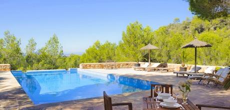 Mallorca Südostküste – Ferienhaus Felanitx 5731 mit Pool und Panoramablick, Grundstück 18.000qm, Wohnfläche 230qm. Wechseltag vom 27.06. – 29.08.2020 ist Samstag, Rest flexibel – Mindestmietzeit 1 Woche.