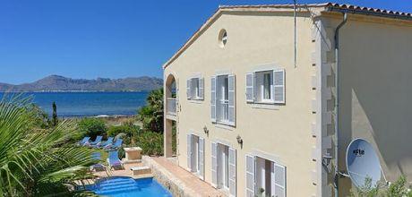 Mallorca Nordküste – Ferienhaus Alcudia 6315 mit Pool direkt am Meer für 12 Personen, Strand ca. 300m. Wechseltag Samstag.