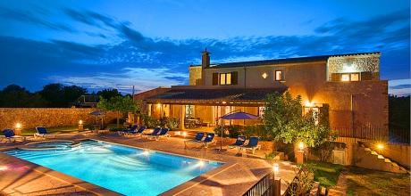 Südostküste von Mallorca: Komfort – Ferienhaus Casa Sanau 5208 mit Pool und rundem Kinderpool in blühendem Garten in Strandnähe (750m). An- und Abreisetag Samstag!