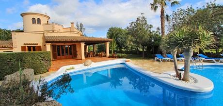 Mallorca Südostküste – Ferienhaus Cala Sanau 5670 mit Pool in Strandnähe (1,4km) auf schönem Gartengrundstück 2.000qm. Wechseltag Samstag – 2018 jetzt buchen