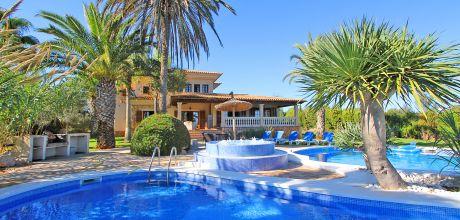 Mallorca Südostküste – Komfort-Finca Cala Sanau 5680 mit Pool und Whirlpool in Strandnähe (Cala Sanau 1,1km) auf herrlichem Gartengrundstück (2.000qm). Wechseltag flexibel auf Anfrage. 2019 buchbar.