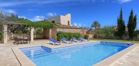 Mallorca Südostküste – Finca S' Horta 5750 mit Pool und Internet für 10 Personen mieten, Strand 4km. Wechseltag Samstag, Nebensaison flexibel auf Anfrage. 2019 buchbar.
