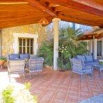 Ferienhaus Mallorca MA6007 Gartenmöbel auf der Terrasse