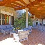Ferienhaus Mallorca MA6007 Sitzecke auf der Terrasse