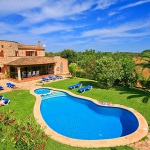 Finca Mallorca  MA5206 - Blick auf Haus und Pool