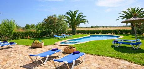 Mallorca Südostküste – Ferienhaus Santanyi 5206 mit Pool und Kinderpool in ruhiger Lage, Strand 6km. An- und Abreisetag Samstag!