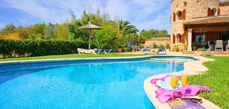 Mallorca Südostküste – Ferienhaus Santanyi 5206 mit Pool und Kinderpool in ruhiger Lage, Strand 6km. An- und Abreisetag Samstag.