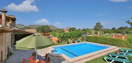 Mallorca Nordküste – Ferienhaus Pollensa 5372 mit Pool, Strand 4km. 29.06. – 24.08.19: Wechseltag Samstag, Nebensaison flexibel.