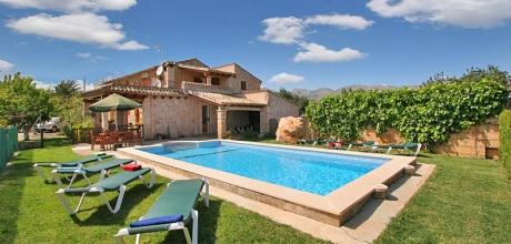 Mallorca Nordküste – Ferienhaus Pollensa 5372 mit Pool, Strand 4km. 30.06. – 25.08.18: Wechseltag Samstag, Nebensaison flexibel.
