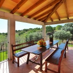Finca Mallorca MA5675 Terrasse mit Fernblick