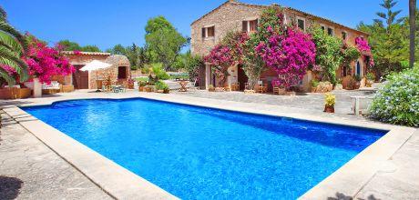 Mallorca Südostküste – Komfort Finca Cas Concos MA5832 mit Pool, Tennisplatz und herrlichem Garten für 8-10 Personen, Grundstück 27.000qm, Wohnfläche 400qm . An- und Abreisetag nur Samstag.