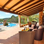 Finca S'Horta MA5656 überdachte Terrasse