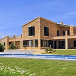 Luxus Ferienhaus Mallorca 5641 Garten mit Pool