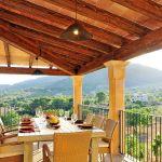 Luxus Finca Mallorca MA5470 Balkon mit Esstisch
