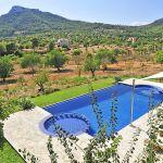 Luxus Finca Mallorca MA5470 Blick über den Pool