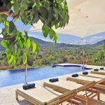 Luxus Finca Mallorca MA5470 Poolterrasse mit Fernblick