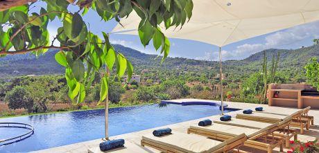Mallorca Südostküste – Luxus-Finca S'Horta 5470 mit Pool, Whirlpool und herrlichem Panoramablick, Strand 7,5km, Grundstück 15.000qm, Wohnfläche 400qm. An- und Abreisetag nur Samstag!