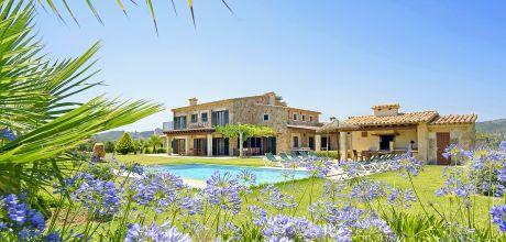 Mallorca Nordküste – Luxus Ferienhaus Pollensa 5260 mit Pool und gepflegtem Garten, Grundstück 21.000qm, Wohnfläche 346qm. An- und Abreisetag nur Samstag.