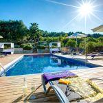 Luxus Finca Mallorca MA3260 Poolbereich mit Liegen