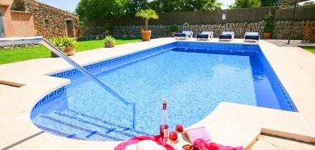 Mallorca Südostküste – Finca S'Horta 4201 mit Internet, Pool, Flair und Blumengarten mieten, Strand 4,5km. Wechseltag Samstag.