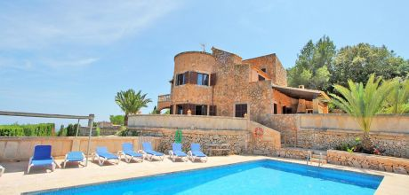 Mallorca Südosten – Finca Es Carritxo 4792 mit Pool in ruhiger Lage, Grundstück 15.000qm, Wohnfläche 250qm, Wechseltag flexibel, Mindestmietzeit 1 Woche.