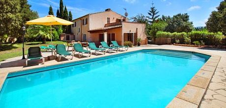 Mallorca Südostküste – Komfort Finca Cas Concos 4990 mit Pool, Grundstück 1.400qm, Wohnfläche 200qm.  Mindestmietzeit 1 Woche / Wechseltag Samstag, in der Nebensaison flexibel.