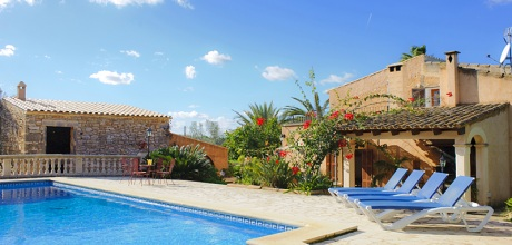 Mallorca Südostküste – Finca Cas Concos 4995 mit Pool, Grundstück 10.000qm, Wohnfläche 140qm. Wechseltag flexibel – Mindestmietzeit 1 Woche.