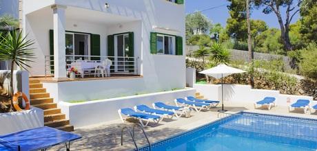 Mallorca Südostküste – Komfort Ferienhaus Cala D'Or 4865 mit Pool direkt am Meer, Wohnfläche 180qm. Wechseltag Samstag – 2017 jetzt buchen!.