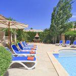 Ferienhaus Mallorca 4149 Sonnenliegen am Pool