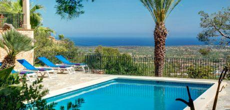 Mallorca Südostküste – Ferienhaus S'Horta 4204 mit Pool und herrlichem Meerblick für 8 Personen, Strand 5km. An- und Abreisetag Samstag!